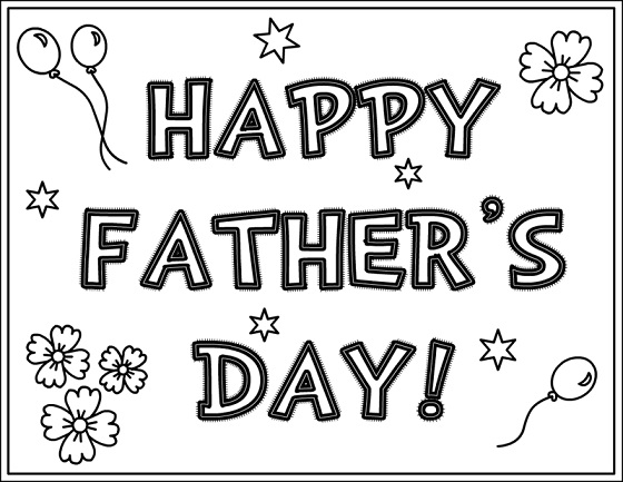 Fathers day printable coloring pages happy fathers day coloring pages sheets 2018 free download